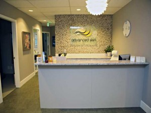 bellevue spa reception desk and sign