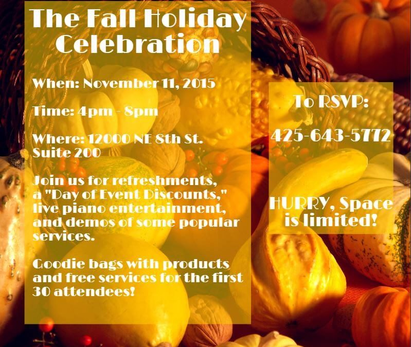 You're Invited to Our Fall Holiday Celebration!